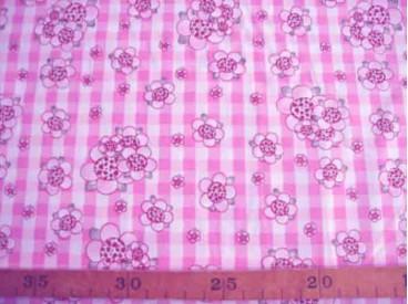 8c Rosa-Dotje Roze met BB ruit en bloem RD3