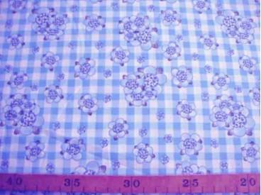 8f Rosa-Dotje Lichtblauw met BB ruit en bloem RD6