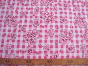 8i Rosa-Dotje Pink met BB ruit en bloem RD9
