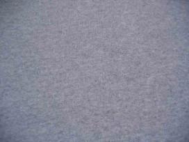 Donkergrijs gemeleerde joggingstof. Sweatstof  ook een heel geschikt voor huispakken.  80%co/20%pe  1.50 mtr.br.  245 gram/m2