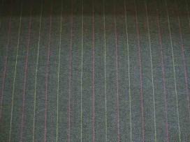 3x Katoen Fishbone streep Bruin 2440-91BK