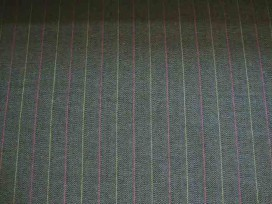 Katoen Fishbone streep Bruin 2440-91BK