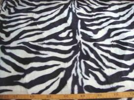 5f Dierenprint Velboa Zebra Wit 4511-50N