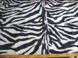 Dierenprint Velboa Zebra Wit 4511-50N