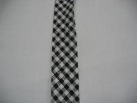 Geblokt biaisband zwart 1
