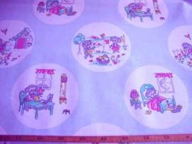 7ao Kindertafelzeil 1 Lichtblauw met cirkels 2520