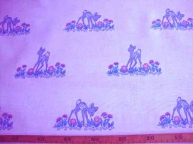 7ak Kindertafelzeil 5 Wit met grijs hertje en bloem 2524