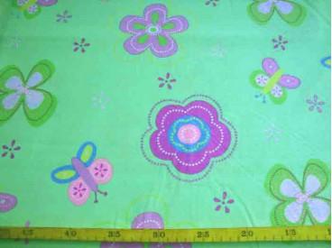 2zg Pastelgroen met grote bloem Froukje pastelgroen 2.60 mtr. br. 7830