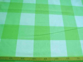 Lakenkatoen BB ruit Pastelgroen 8 x8 cm. 2.60 breed