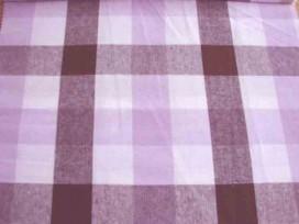 Boerenbont stof 2 kleurig Donkerbruin/lila 30x30mm
