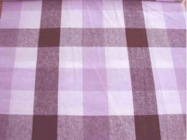 Boerenbont stof 2 kleurig Donkerbruin/lila 30x30mm.1006-43N