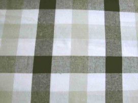 Boerenbont stof 2 kleurig Zwart/grijstaupe 30x30mm. 1006-69N