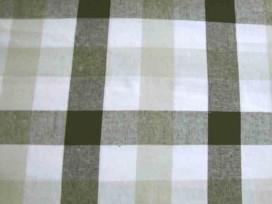 Boerenbont stof 2 kleurig Zwart/grijstaupe 30x30mm