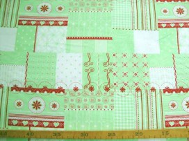 3a Tante Ema Lime Patchwork blok TE9