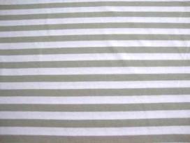 4m Tricot streep Lichttaupe/wit 1040-126N