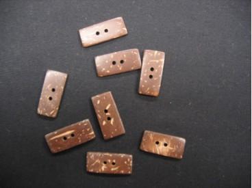 Kokos knoop  Rechthoek 23x10mm. nk7014
