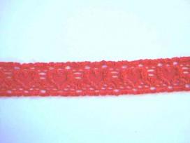 Elastisch kant met hartjes Rood 25mm.