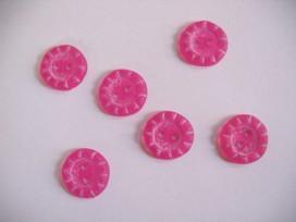 5a Kinderknoop div. Roze met streepjes kkd93