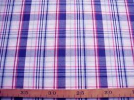 9ma Katoen Ruit Rood-wit-blauw 1102-8N