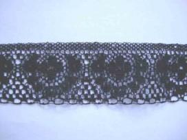 8b Zwart nylon kant 40 mm. 981B