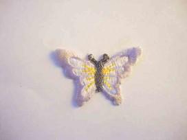 Applicatie vlinder Lichtlila met geel 1149-7kl