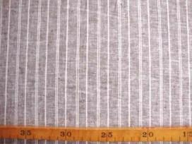 Linnen/katoen Bruine lengtestreep 37002PL