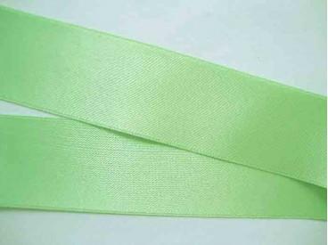 Lichtlime satijnlint dubbelzijdig van 40 mm. breed.