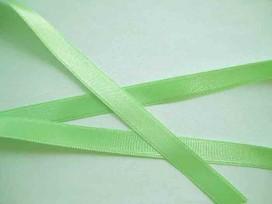 Satijnlint Lime 10 mm breed