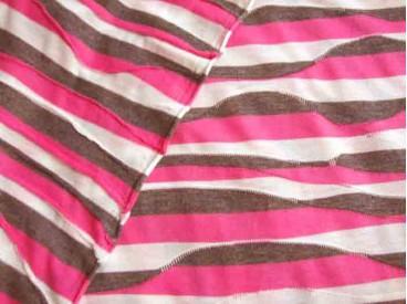 Tricot golfstreep Pink/offwhite/grijs 1161-17N