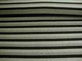 Tricot streep Zwart/grijs/lichtgrijs Breed 1648-69N