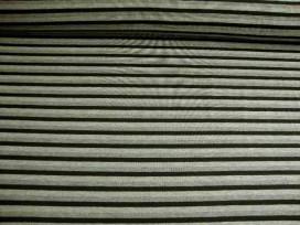 6d Tricot streep Zwart/grijs/lichtgrijs 1647-69N