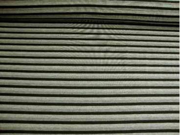 Tricot streep Zwart/grijs/lichtgrijs 1647-69N