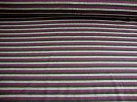 Tricot streep Paars/grijs/zwart 1647-19N