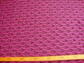 5x Tricot Pink met golf structuur 1234-17N