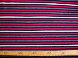 Tricot streep Grijs/rood/zwart/offwhite 1548-16N