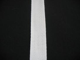 Keperband 2cm. wit