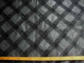 Memorystof Grijs met zwarte schuine ruit 960506-83PL