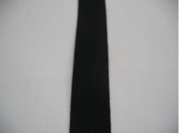 Keperband 2cm. zwart
