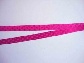 Satijnlint ton sur ton Stip 10mm  Pink