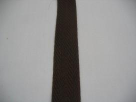 Keperband 2cm. donker bruin