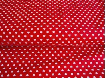 Mini hartje katoen Rood/wit 1264-15N