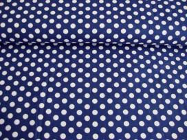 Middelstip katoen Donkerblauw/wit 5576-08