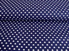 5j Mini hartjes Donkerblauw/wit 1264-8N