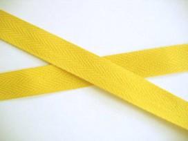 Keperband 2cm. geel