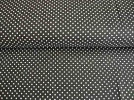 Mini stip katoen Zwart/wit 5575-69N