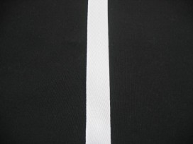 Keperband 15mm wit