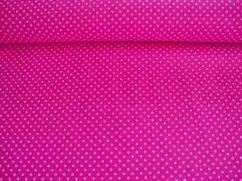 Mini stip katoen Pink/wit 5575-17N