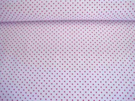 Mini stip katoen Wit/pink 5579-17N