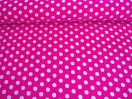 Middelstip katoen Pink/wit 5576-17N