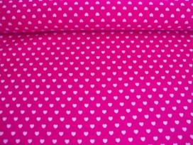 Mini hartje katoen Pink/wit 1264-17N